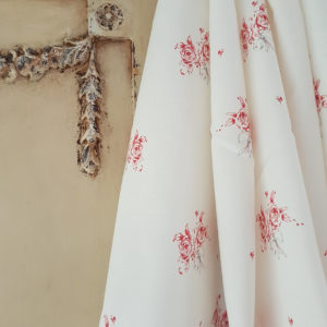French Posies Floral Linen By Rose and Foxgloves