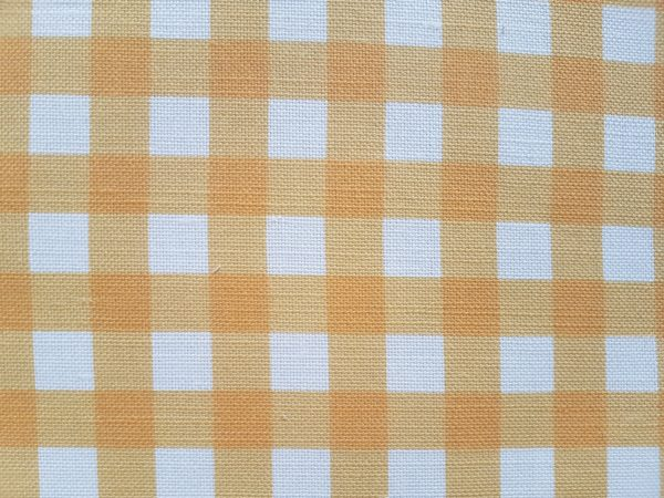 Saffron and Ivory Linen Gingham fabric