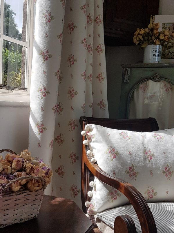 Eidelwiss Curtains and Cushions by Rose and Foxgloves Linen Fabrics