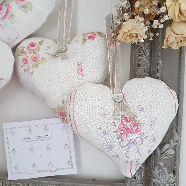 Vanity Fair Stripe Lavender Heart Hanger
