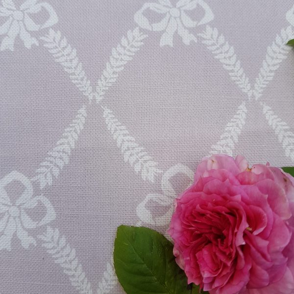 Rose and Foxgloves French 1880 Bows Soft Heather