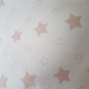Stars - Rose and Foxgloves Linen Fabric-Pink