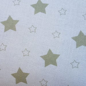 Stars-Rose-and-Foxgloves-Linen-Fabrics-Pasture Green