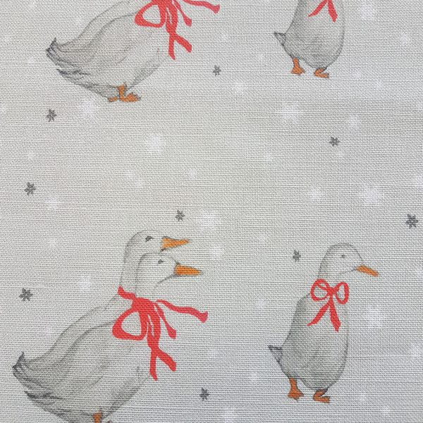 Beatrix Potter Christmas Geese Linen Fabric