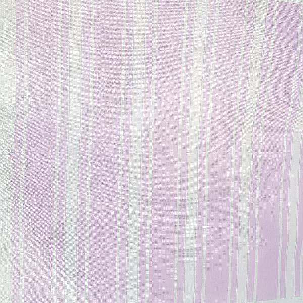 Chantilly- Lilac Grainsack Stripe Linen Fabric on an Ivory Base Gorgeous Lilac and Ivory Grainsack stripe co-ord for our Chantilly Lilac Roses Linen.