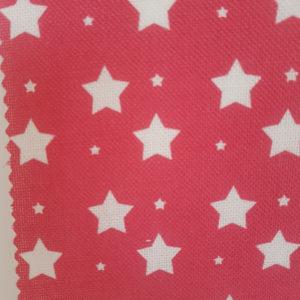 Christmas stars on Red Linen