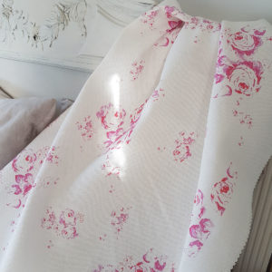 Vintage Inspired Faded Floral Linen Fabrics