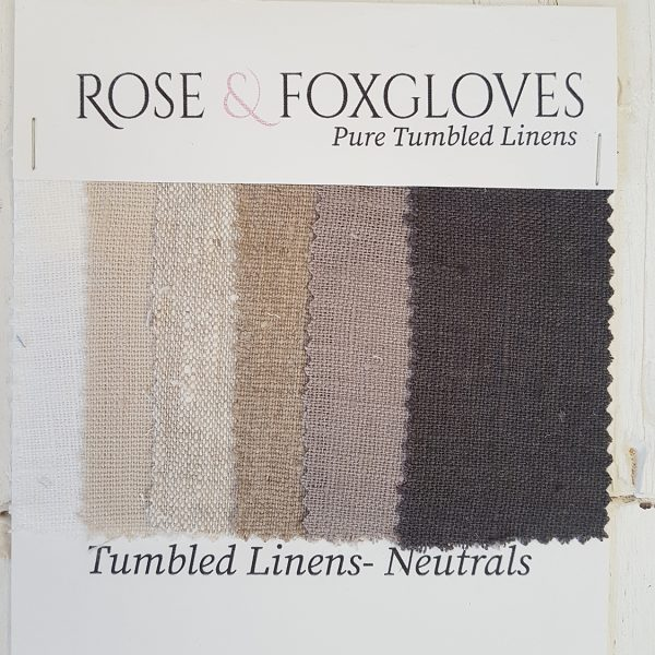 Tumbled Linen Colour Card Neutral Rose and Foxgloves
