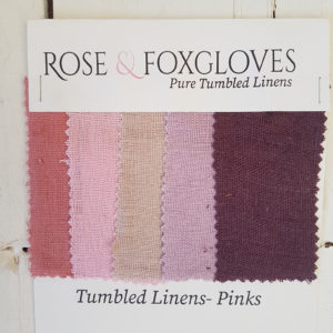 Tumbled Linen colour card Pink