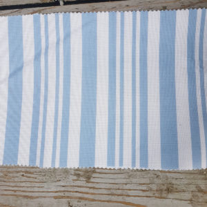 Nautical Stripe Linen Fabric- Blue Mist and Salt Coastal