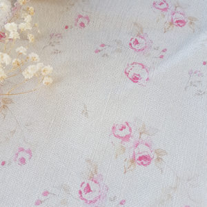 The Vintage Rose Linen Fabric