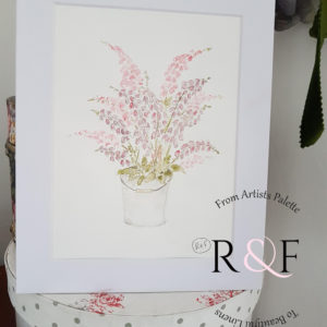 Bucket full of foxgloves delicate watercolour Original Signed Painting