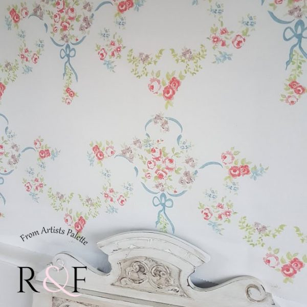 The Rose Garden French Floral Linen Fabric