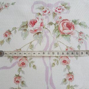 Ribbon & Roses Faded Lilac Ribbons Floral Linen