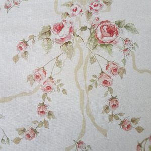 Rose and Ribbons, faded pale green ribbons