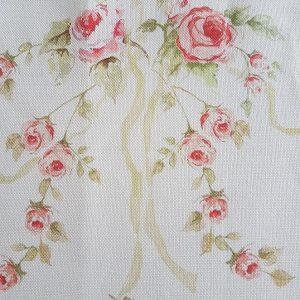 Vintage Roses Linen remnant