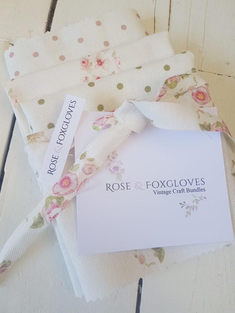 Craft Bundle of Floral Linens, Eidelwiss and Cicely Trellis