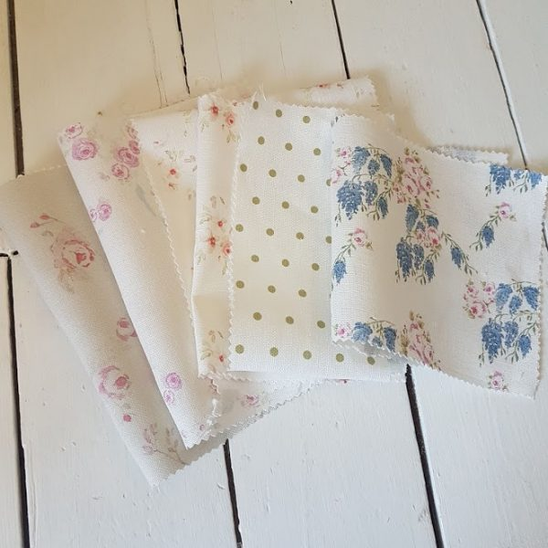 Florals and Polka Dots Scrap Linen Crafters Bundle RF26