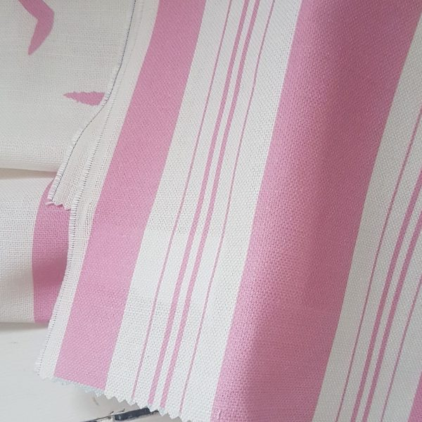Pink Seagulls Small Grainsack Linen Fabric by Rose and Foxgloves