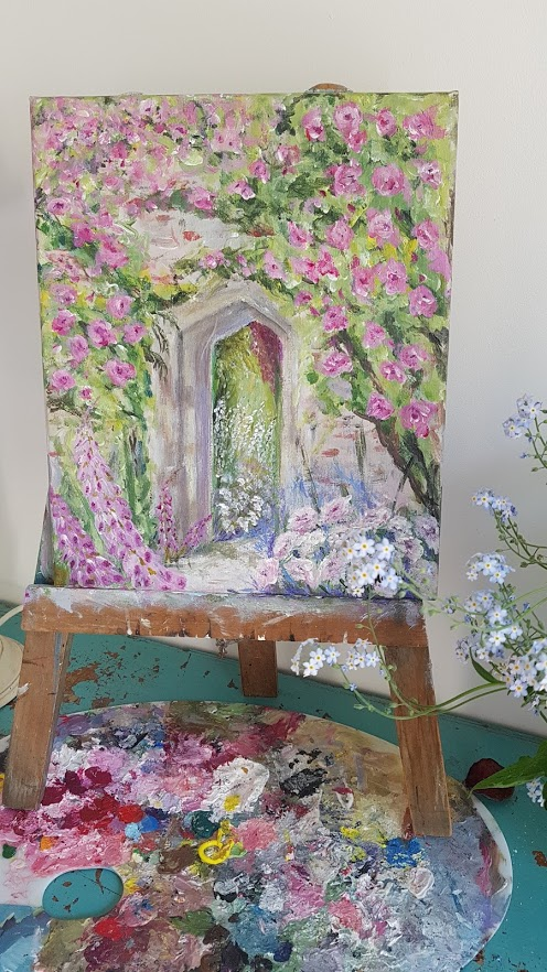 The Secret Garden Signed Original Acrylics Painting on Canvas