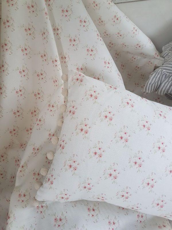 Cicely Trellis floral linen cushion