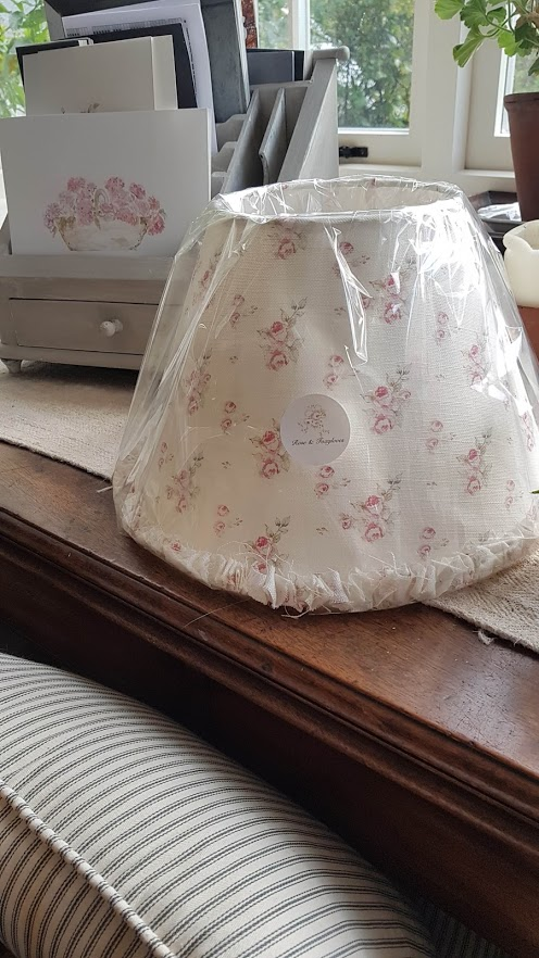 Ditsy roses handmade ruffle lamp shade by Rose and Foxgloves