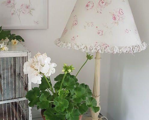 The Vintage Rose Floral Linen Coolie Shade 30cm