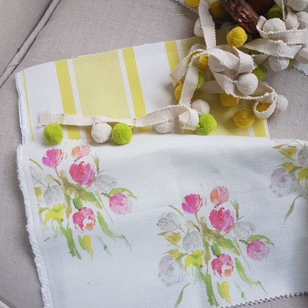 Watercolour Tulips fabric