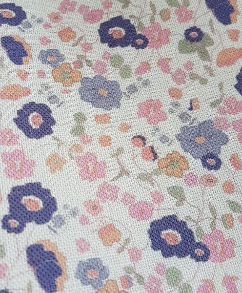 Wild Meadow Daisies Pink Floral Linen Fabric