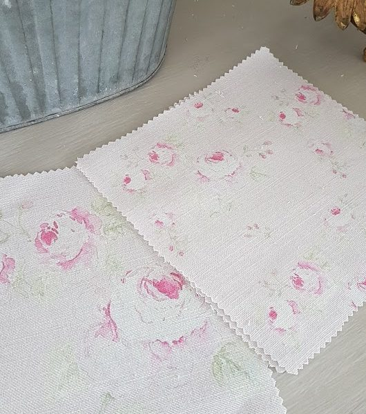 Mill on the Floss Vintage Faded Roses on a Blush Linen-Small