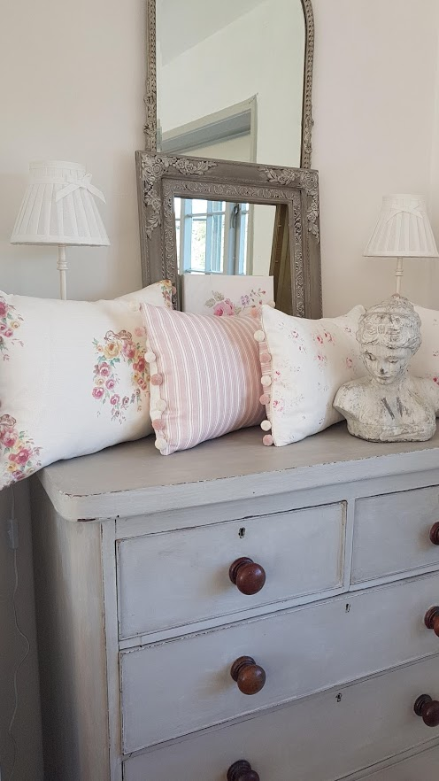 Rose and Foxgloves Faded Floral Cushions
