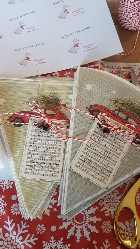 bring home the tree bunting kits by rose and foxgloves