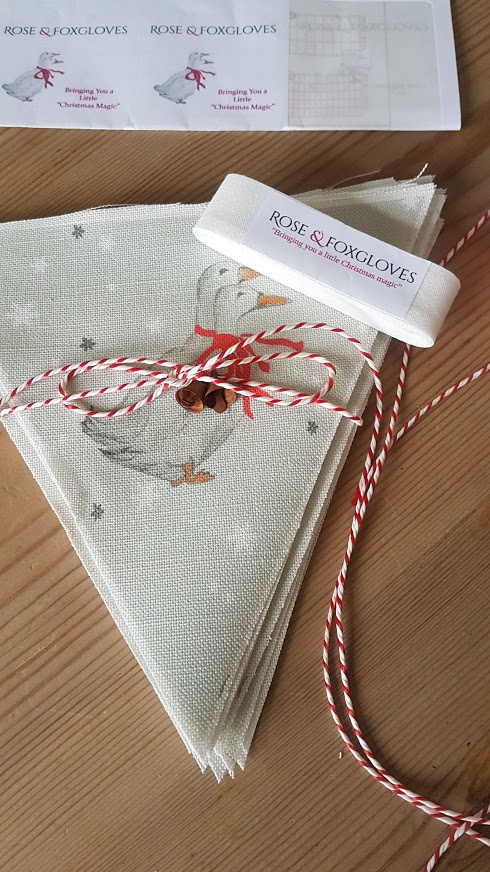 Beatrix Potter Geese Christmas Bunting Kit