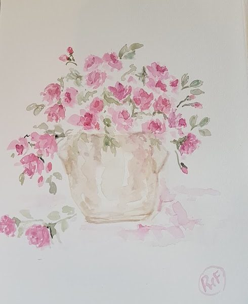 Evening Doodles- Roses By Candlelight Painting by Rose and Foxgloves