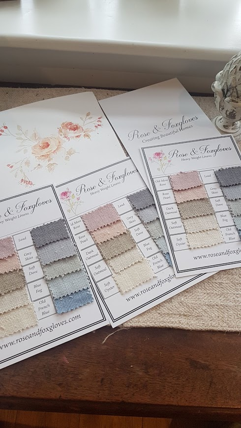 Rose & Foxgloves Heavy weights Linens Sample Card