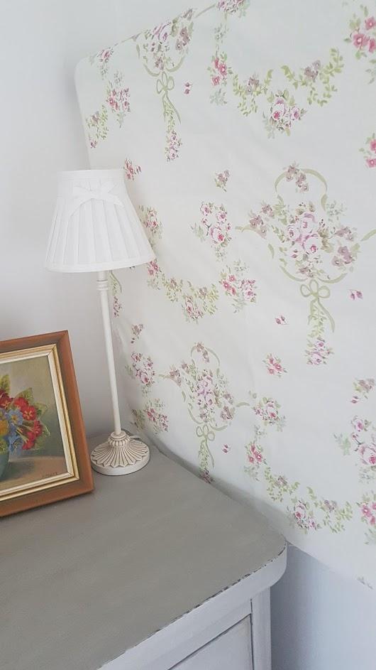 The Rose Garden Plum Vintage Floral Linen Fabric