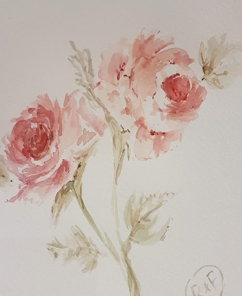 Thursday Roses watercolour painting