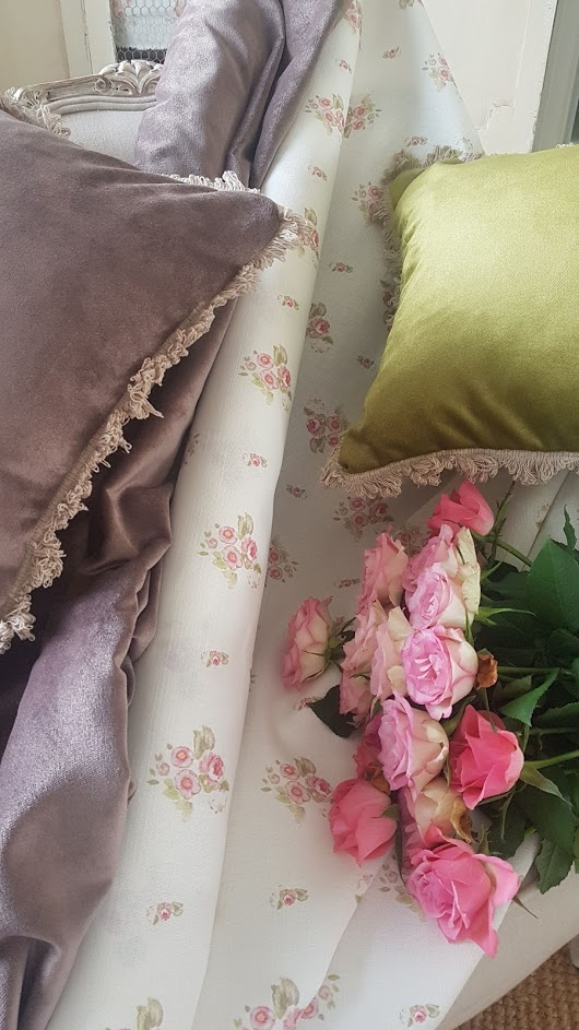 Rose and Foxgloves Vintage Coloured Velvets and Vintage Inspired Floral Printed Linens