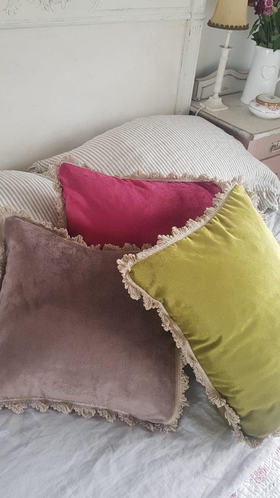 Rose and Foxgloves velvet cushions