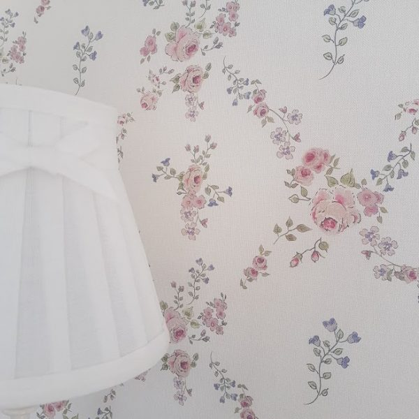 Abby Rose Trellis Cottage Garden Floral Linen