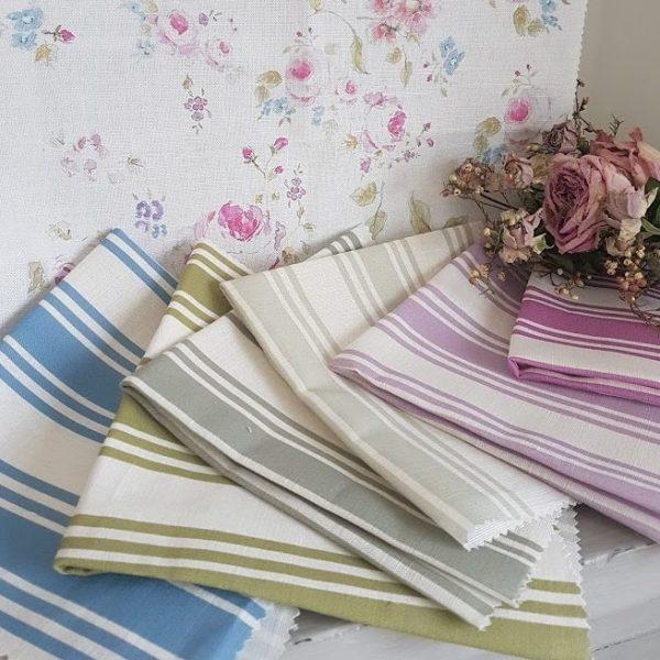 Cornish Summer Stripes on Ivory Linen