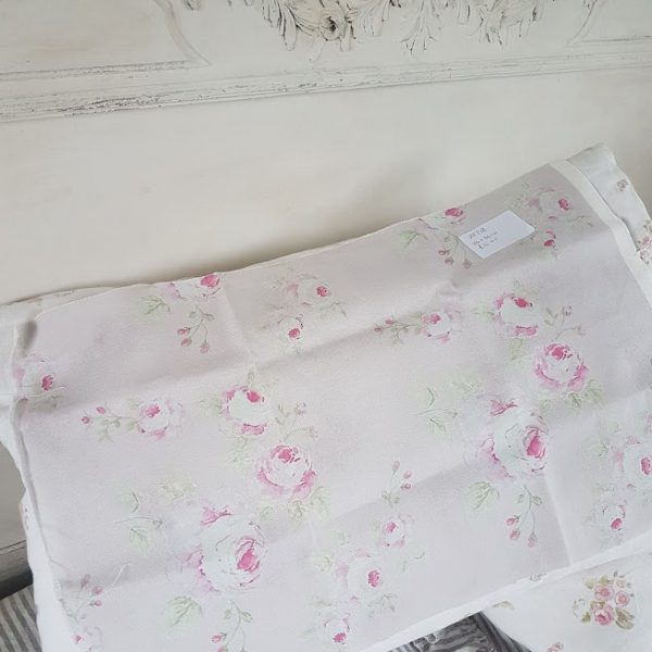 Mill on the Floss in Blush Pink Scrap Linen Fabric Piece 56x36cm RF21