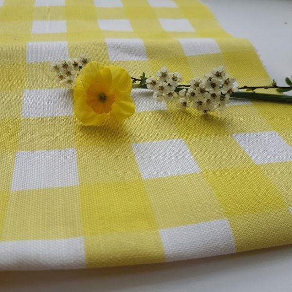 Lemon Zest and Ivory Gingham