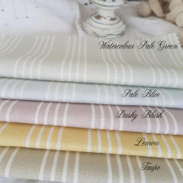 Mattress Stripe Linen Fabrics assorted colours by Rose and Foxgloves