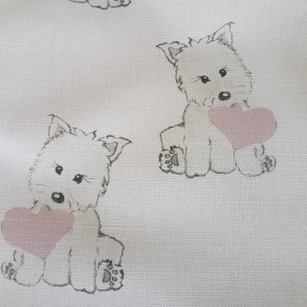 Puppy Love Linen by Rose and Foxgloves