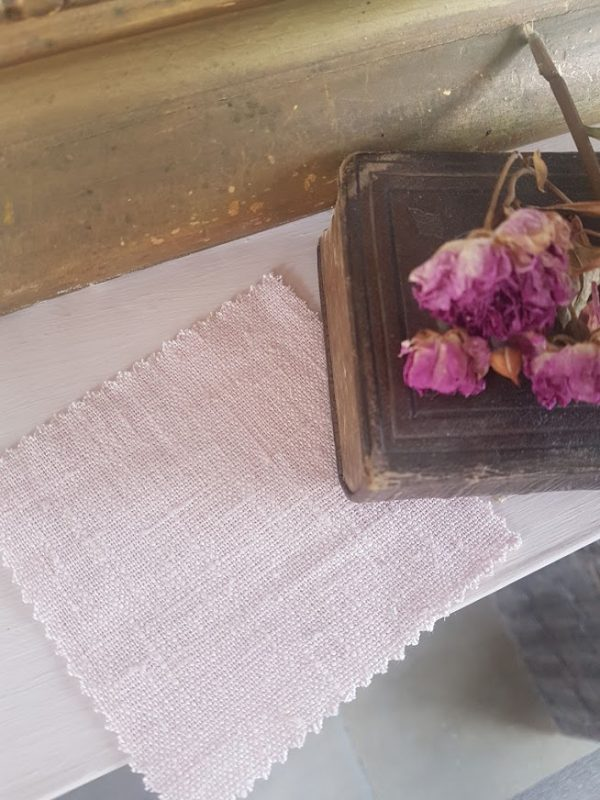 Calamine Powder Tumbled Linen by Rose and Foxgloves