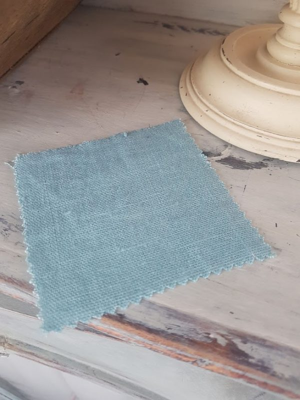 Teal Tumbled and Washed 100% Linen