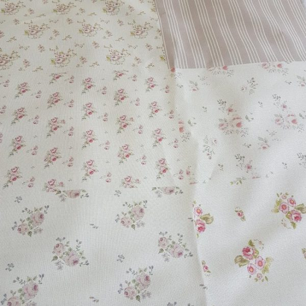 Floral Stripes and Polka Dot Fabric half meter craft sheet by Rose and Foxgloves