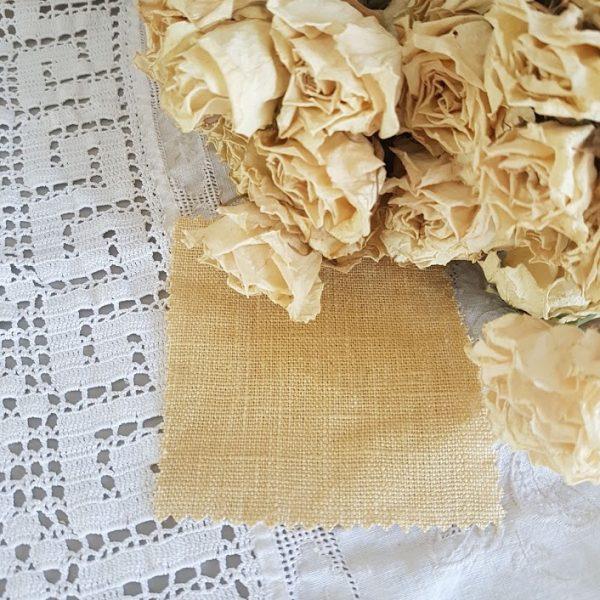 Soft Gold Tumbled and Washed 100% Linen