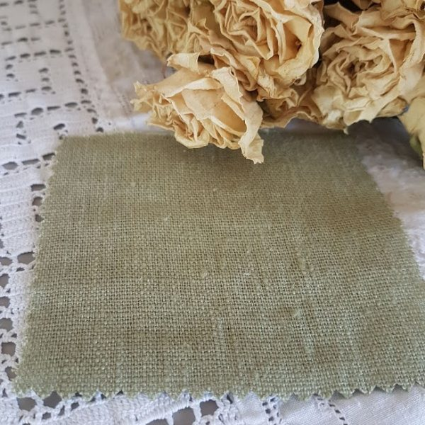 Soft Sage Tumbled and Washed 100% Linen
